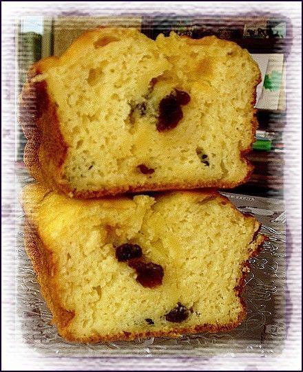 Light : Cake aux petits suisses et raisins secs.